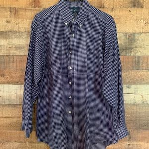 Ralph Lauren Polo button down navy shirt, 16 32/33